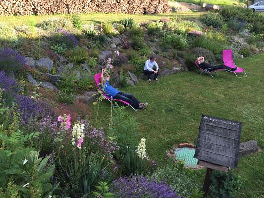 Im Garten unseres B+B