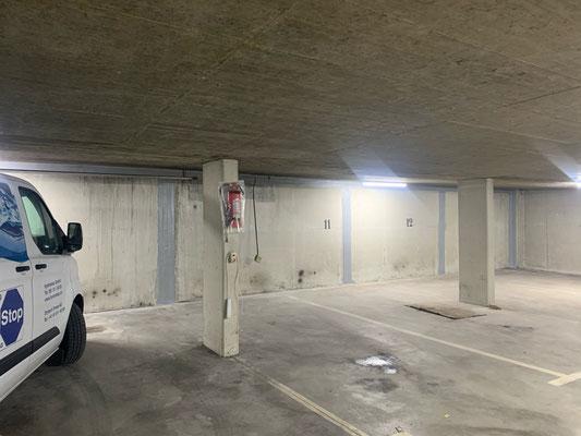 Combiflex Abdichtung, Autoeinstellhalle von innen Abdichten, Sanierung Einstellhalle