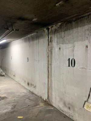 Dehnfugensanierung, Autoeinstellhalle von innen Abdichten, Sanierung Einstellhalle