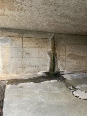 Autoeinstellhalle von innen Abdichten, Sanierung Einstellhalle, Rissinjektion