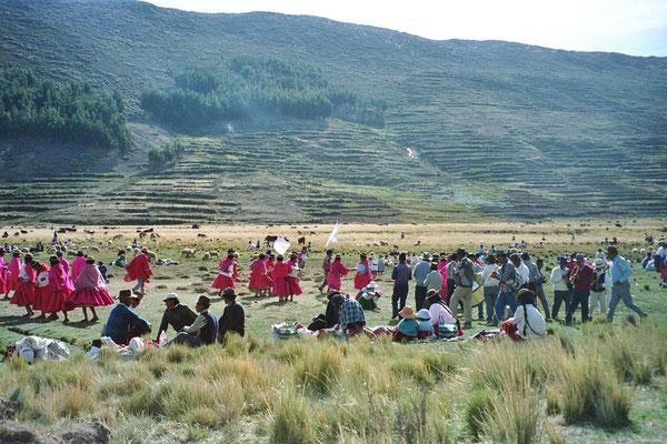 Vollmond-Reunion Isla del Sol-Titicaca See