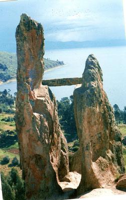Horca del Inka Copacabana Titicaca See