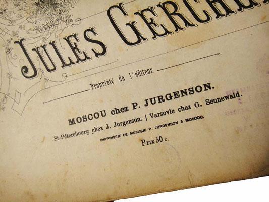 Юргенсон, нотный издатель