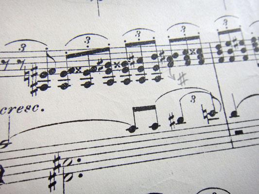 22-й такт (Мелодия, опечатки)
