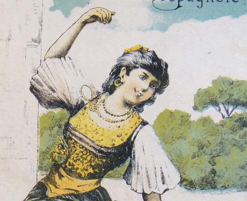 Испанка-украинка, рисунок нотной обложки