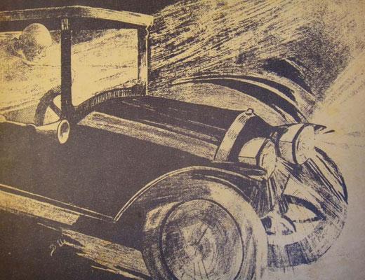 Стремительный автомобиль на обложке хита о ломающемся автомобиле