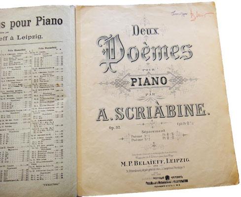 Титульный лист, по традиции, на французском языке