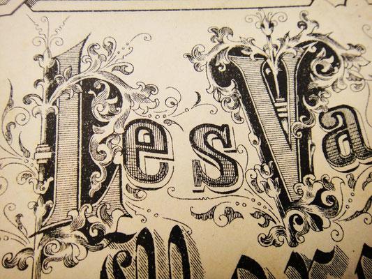Роскошные буквы на обложке