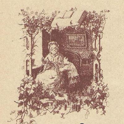 Бабушка и внучек (художник А. Степанов)