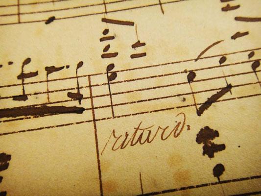 Фрагмент нотной рукописи