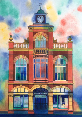 Leek Butter Market, Original Watercolour £250