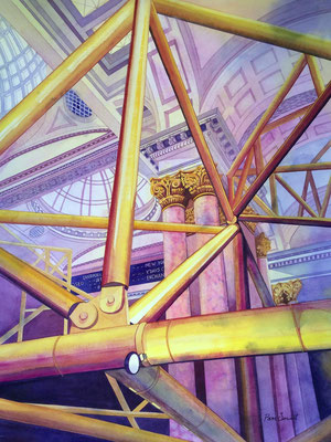 'Royal Exchange' Watercolour framed in white £650