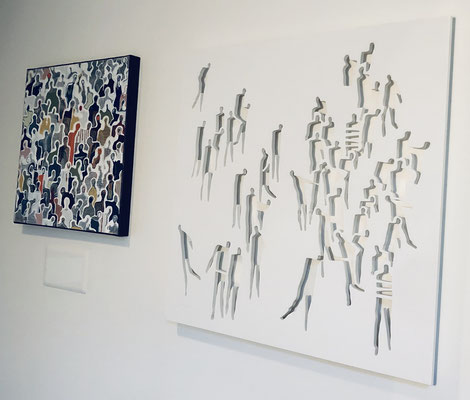 Foule #2 27''x27'' and J+952 20''x20''