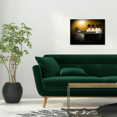 Ray and a green sofa