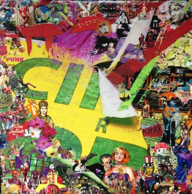 Brazil - 12''x12'' on canvas with paints, glue and varnish