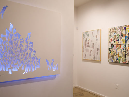 Foule 29''x29'' #2 - Moucharabieh on Corian at Artist's Proof Gallery