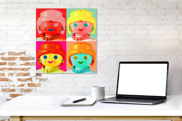 Warhol on a desk