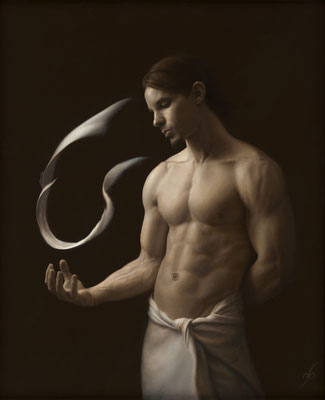 Jason Brady (USA) - Clarior ex obscura - Oil on panel - 61x46