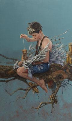 Manuel Luna Rodriguez - La obsesión de Ícaro - Óleo sobre tela - 170x100