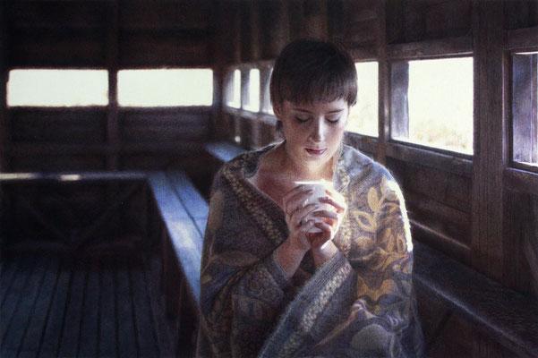 Sara Madrid - Respira - Boligrafos de color sobre papel - 42x62