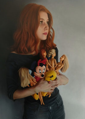 Tomás Ortolani - Apego emocional - Óleo sobre tela - 70x50