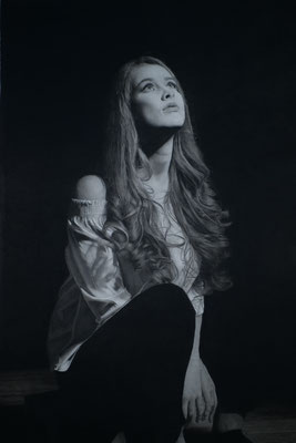 Helmut Danninger - Whatever you see - it is not me - Drawing charcoal and graphite - 60x90
