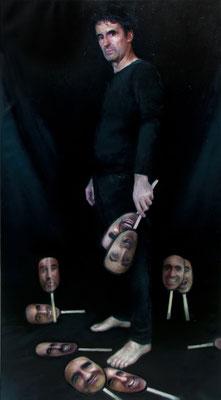 Gustavo Manzano de Andrés - Máscaras - Óleo/lino - 140x77