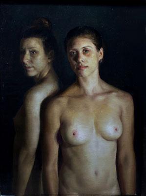 Pedro del Toro Calle - Las luchadoras 2 - Óleo sobre lienzo - 100x81