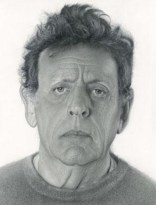 Daan van Doorn - Philip Glass - Óleo sobre panel sobre poliéster - 175x140