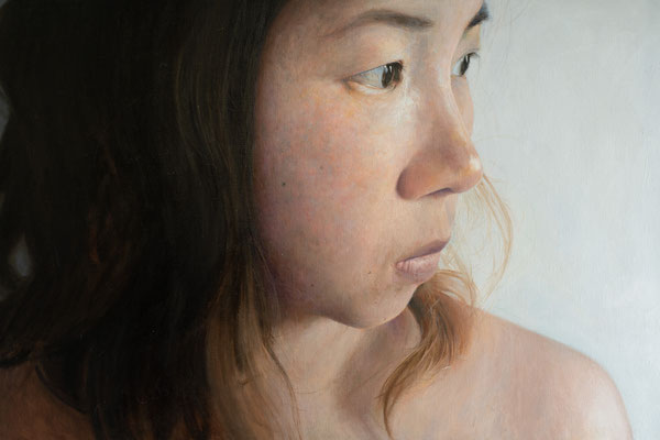 Kenneth Leung - Wife - Oil on linen - 90x60