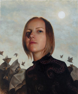 Arthur Gain - Premonition - Oil on linen on panel - 50x60