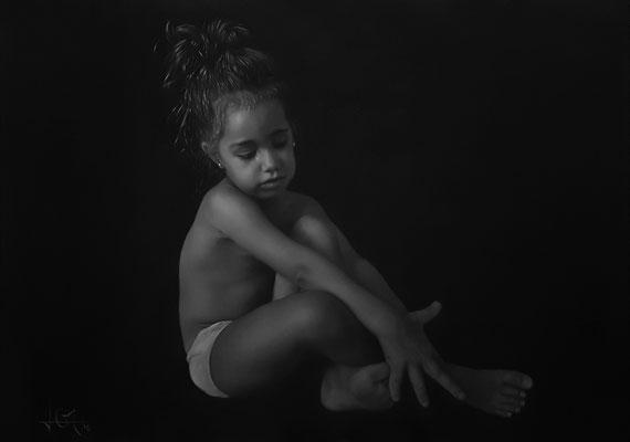 Laura Cameo (España) -Ixenya - Pastel sobre papel - 50x79