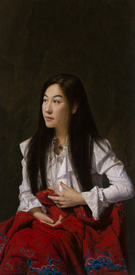 Kang Huang - Tranquil - Oil on linen - 111x51