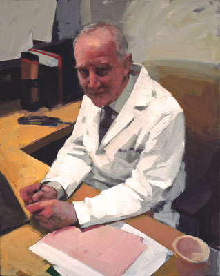 Mark Tennant - PORTRAIT OF DOCTOR HENRY NOVACK - oil on canvas - 75x61