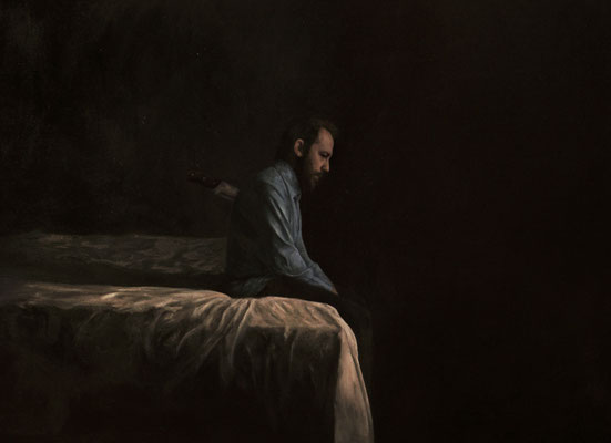 Cristiano Felismina - Auto retrato 4 - Óleo sobre lienzo - 116x165