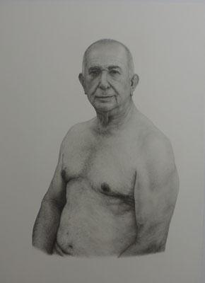 """Emilio Silvestre Martinez - Emilio """"El Diamante"""" - Lápiz de grafito sobre papel - 95x68"""