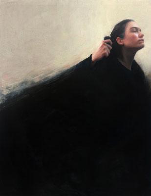 Irene Antich - El abrigo - Óleo sobre lino - 120x90