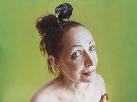 Arina Gordienko - Rare Bird - Oil on linen - 70x102