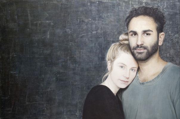 Susanna Storch - Lea and Cem Acrylic on Canvas - 100x150