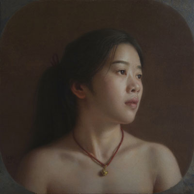 Xu Zhang - Unkown Dream - Tempera Oil Painting on woodboard - 40x40