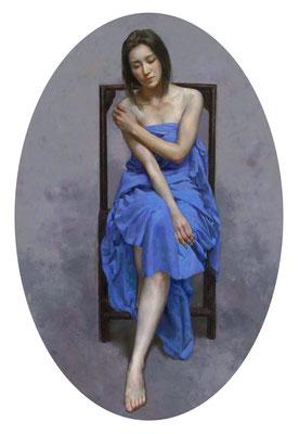 He lihuai - The Blue Ocean - Oil on canvas - 125x86