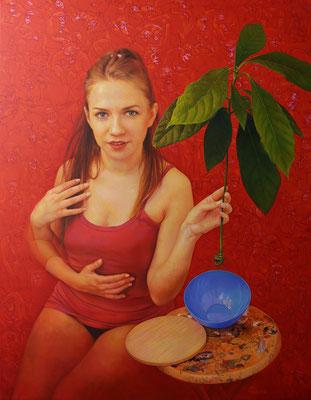 Anna Wypych (Polonia) - Recordando - Óleo sobre lienzo - 100x81