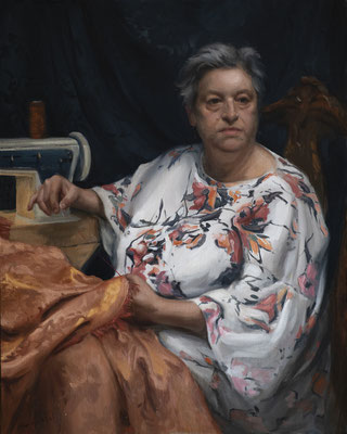 Stefano Mussato - Anna M. - Óleo sobre lino pegado a tabla - 100x80