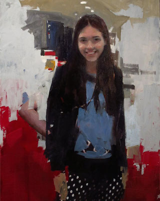 Mark Tennant - Portrait of a Young Girl - Oil on canvas - 102x76
