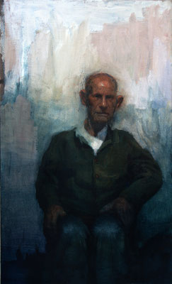 Luis Martínez - Old man - Óleo sobre tabla - 120x72