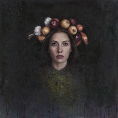 Jenka Barakina - Harvest - Oil on canvas - 80x80