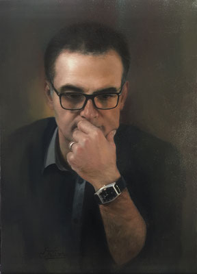 Arezou Nikahd (Irán) - Anxious - Oil on canvas - 56x40