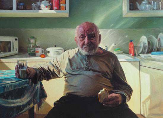 Sasha Sokolova - The last portrait - Oil on canvas - 80x120