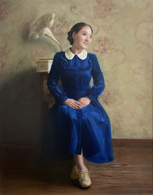 Yuquan Liu - Youth No.2 - Oil on linen - 100x80