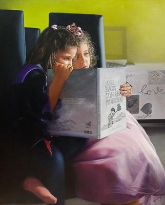 Maria Ascensión Serrano - La magia de un libro - Óleo sobre lienzo - 85x75
